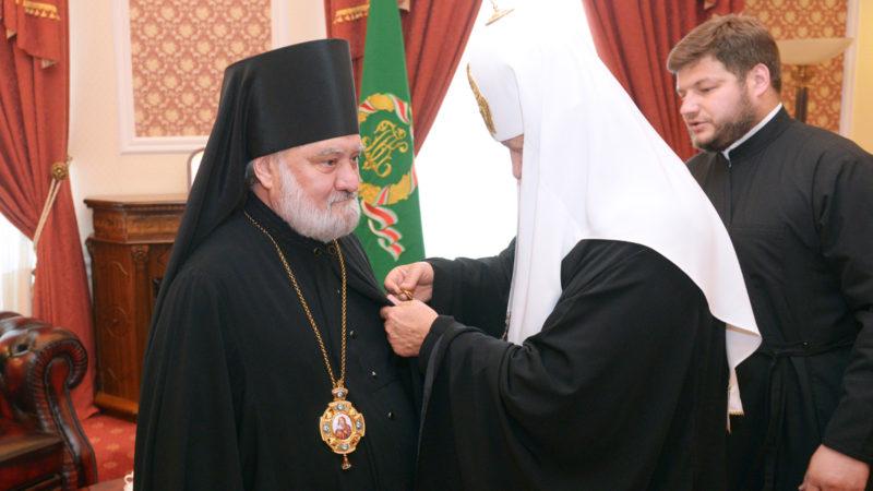 Епископ Анатолий был удостоен ордена святого блгв. князя Даниила Московского III степени