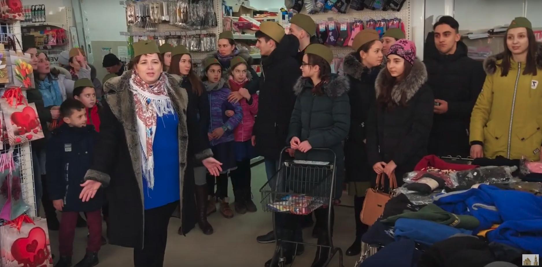 В Чадыр-Лунге прошел флешмоб посвященный 23 февраля