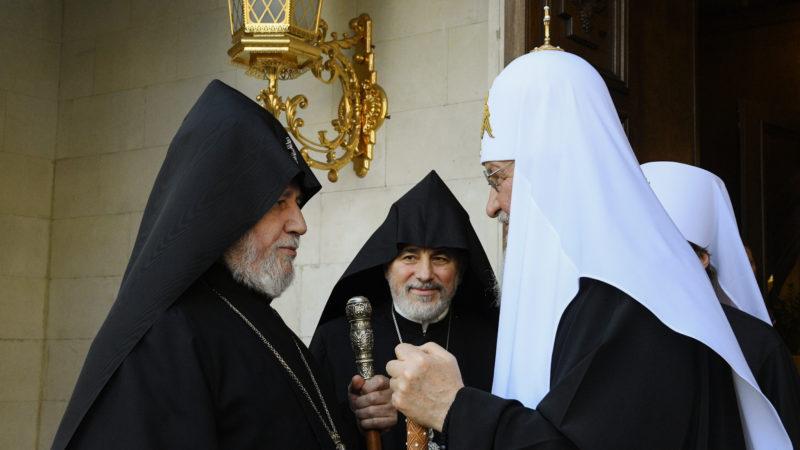 (ВИДЕО) Состоялась встреча Предстоятеля Русской Православной Церкви с Верховным Патриархом и Католикосом всех армян