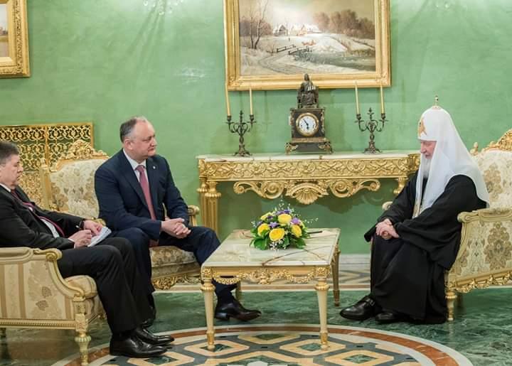 (ВИДЕО) Святейший Патриарх Кирилл встретился с Президентом Республики Молдова Игорем Додоном