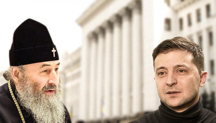 Блаженнейший митрополит Онуфрий поздравил Зеленского с избранием на пост Президента