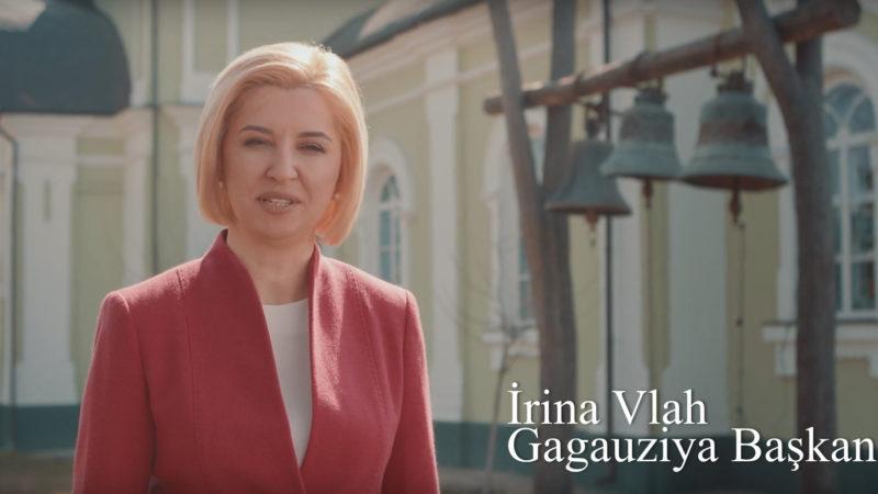 (ВИДЕО) Башкан Гагаузии Ирина Влах поздравила жителей автономии с Пасхальными праздниками