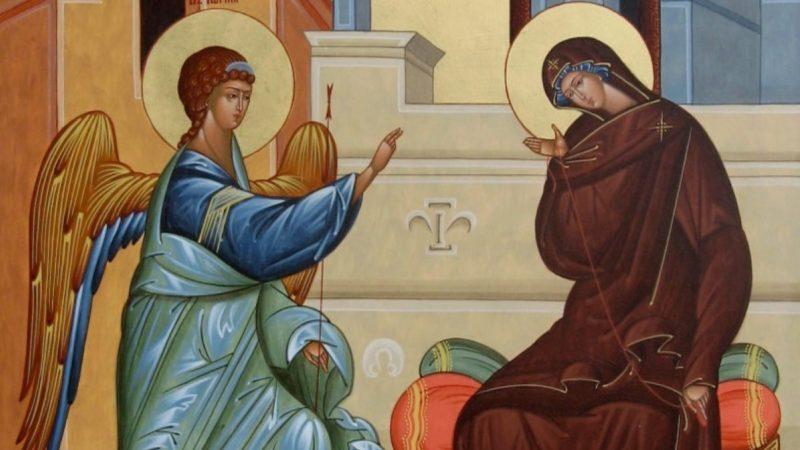 (ВИДЕО) Тропарь Благовещения Пресвятой Богородицы. Panaiyanın İi Haber Kabletmesi
