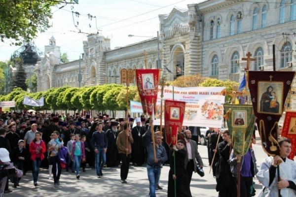 Митрополия Молдовы проведет шествие в поддержку семьи и традиционных семейных ценностей