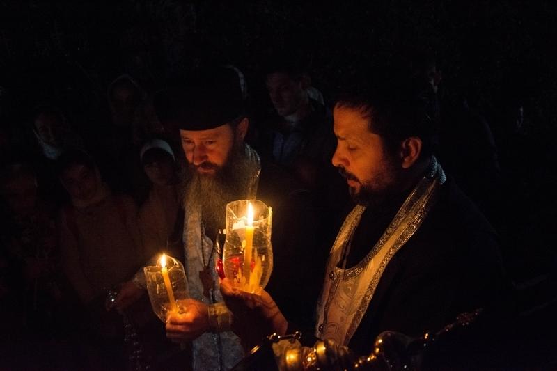 Пасхальное богослужение в Успенском храме села Копчак
