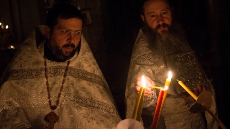 (ФОТО) Пасхальное богослужение в Успенском храме села Копчак