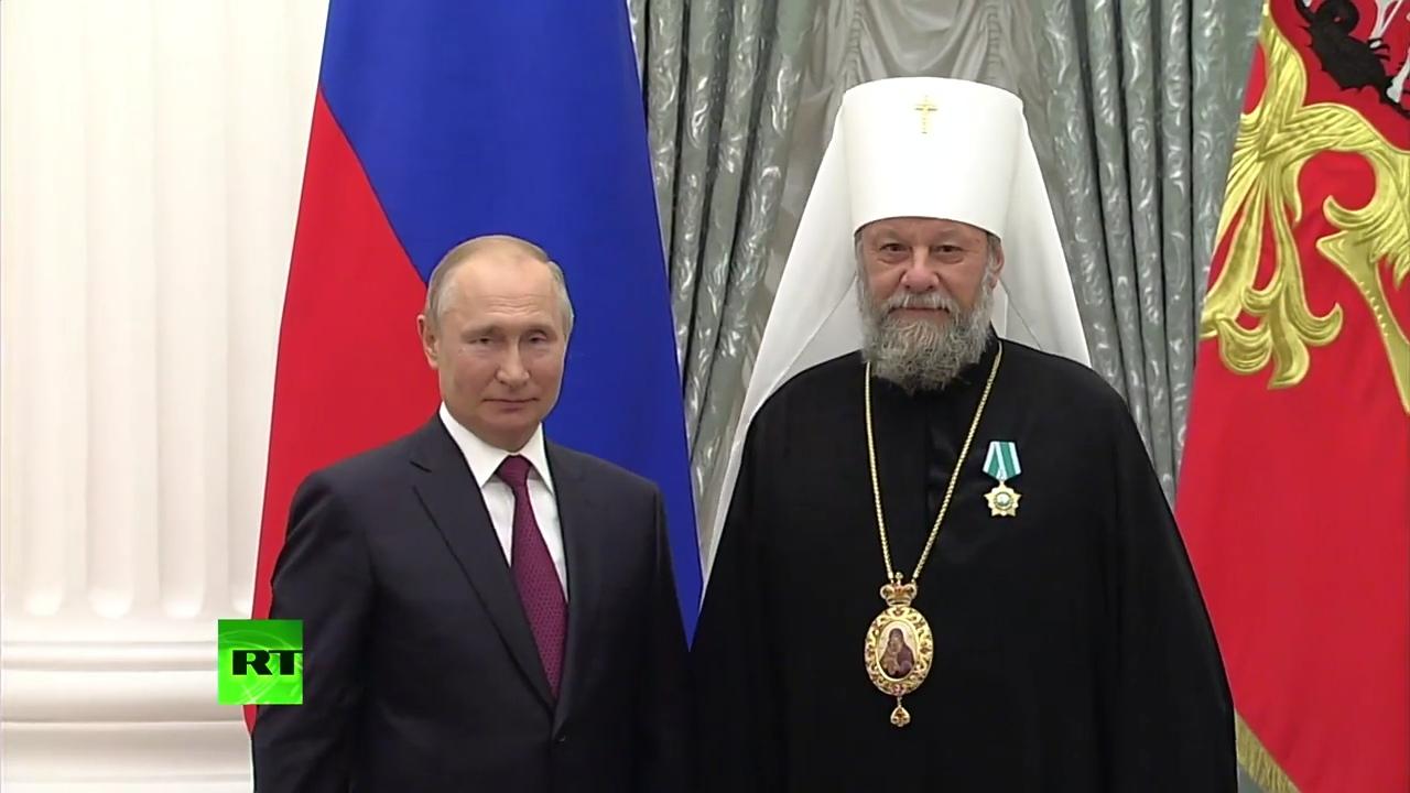 Путин наградил митрополита Молдовы Владимира орденом Дружбы