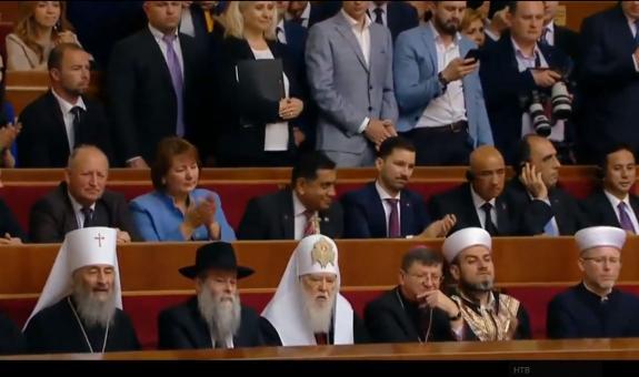 Предстоятель УПЦ принял участие в инагурации президента Украины В.А Зеленского