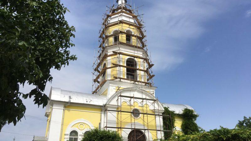 В Кафедральном соборе мун. Комрат, продолжаются реставрационные работы на колокольне