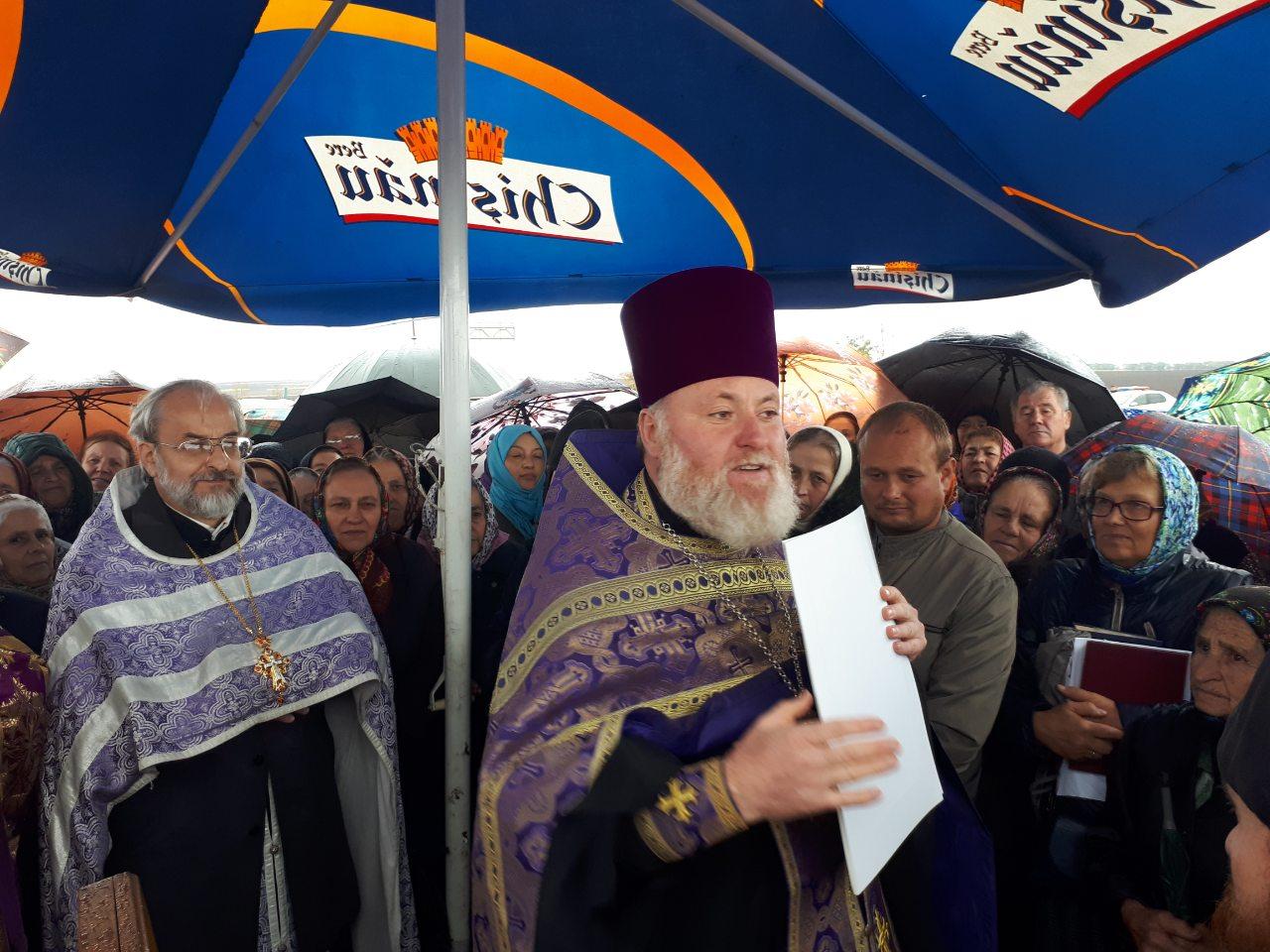 (ФОТО) В мун. Чадыр-Лунга состоялся молебен у поклонного креста при въезде в город