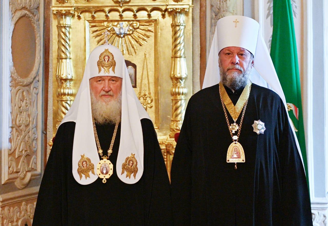 Митрополит Владимир удостоен ордена святителя Алексия