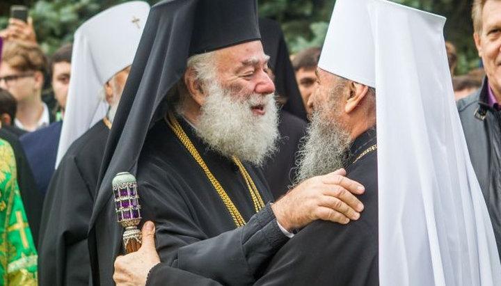 Александрийский патриарх Феодор помянул на литургии Епифания