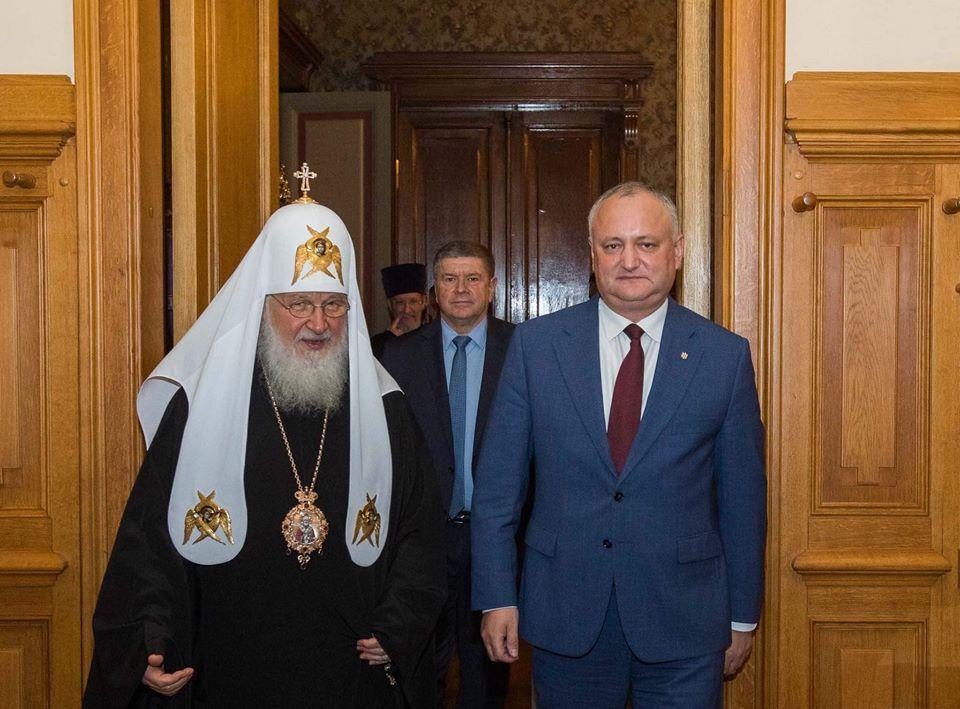 Игорь Додон рассказал о визите Патриарха Кирилла в Молдову и Гагаузию