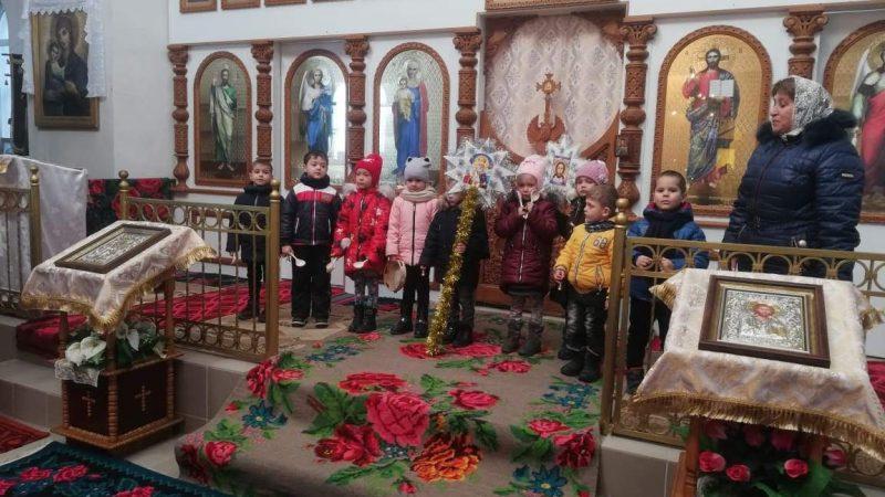 (ФОТО) В храме с. Етулия на Рождество прошло выступление детей