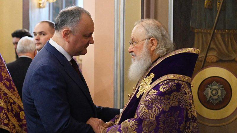 Президент Молдовы встретился с патриархом Кириллом