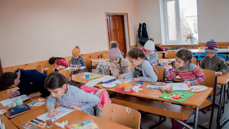 (ФОТО) Открытие художественного кружка в церкви с. Копчак