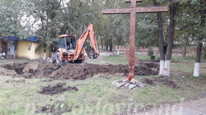 (ФОТО) В Чадыр-Лунге приступили к строительству храма параклиса