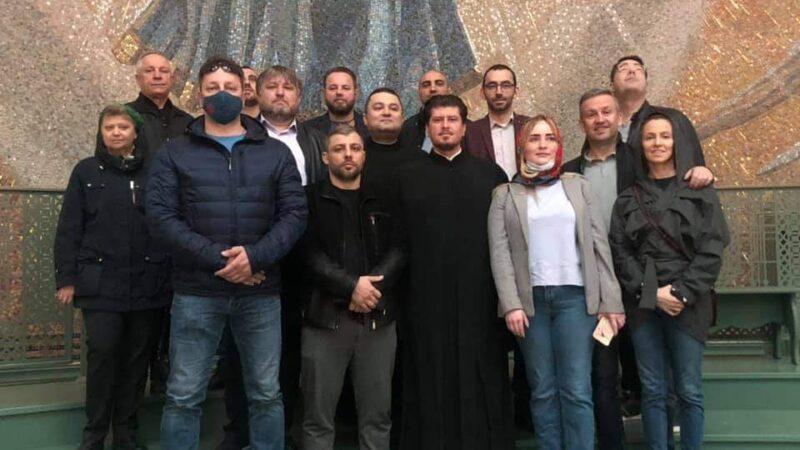 (ФОТО) Представители гагаузской и болгарской диаспор в г.Москве, посетили Главный Храм Вооруженых Сил РФ