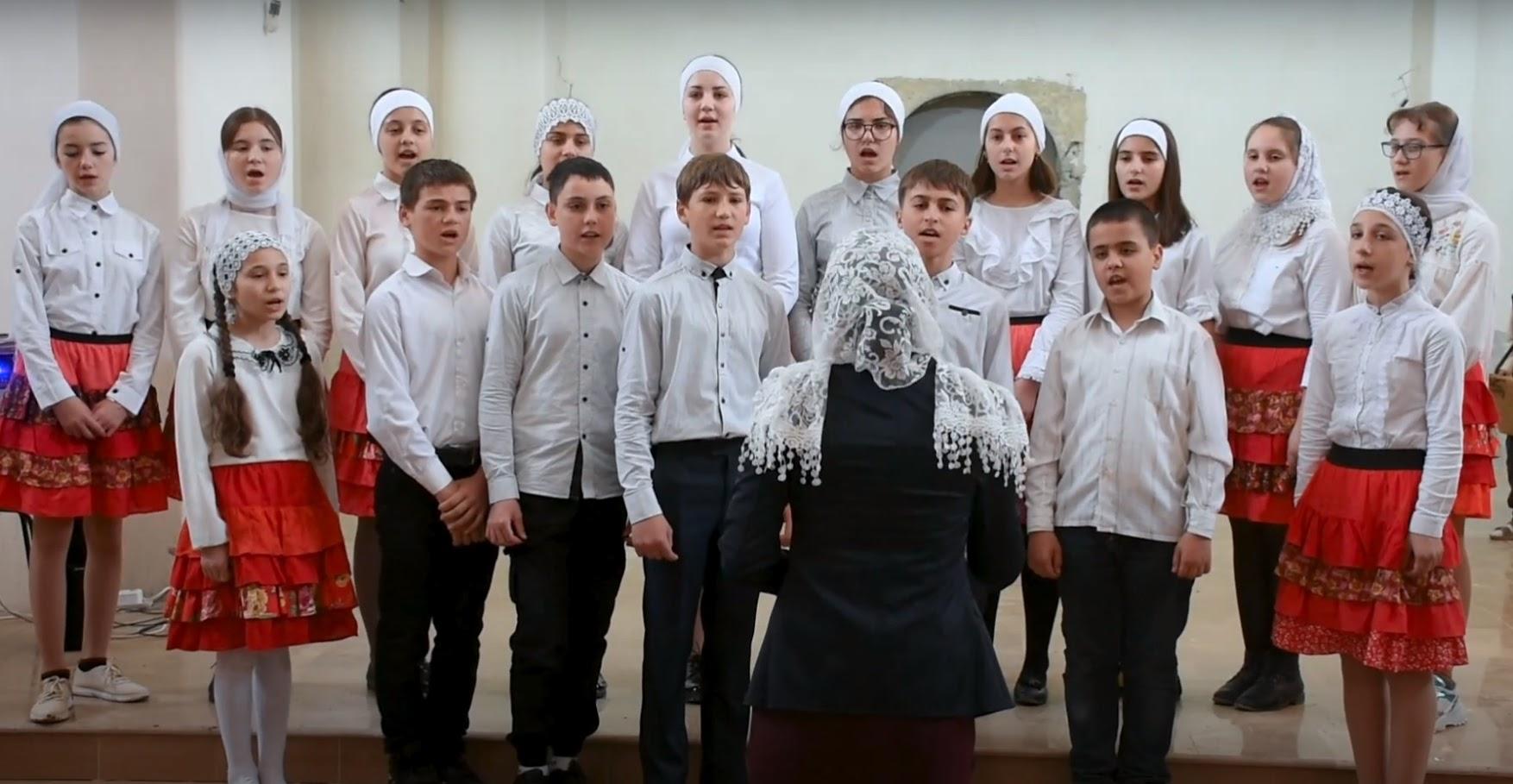 (ВИДЕО) Пасхальное выступление церковной школы с. Копчак