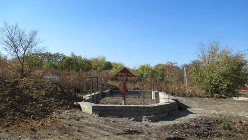 (ФОТО) В селе Чалык сооружен фундамент будущего храма